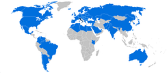 Map of international trips made by Berlusconi as Prime Minister.