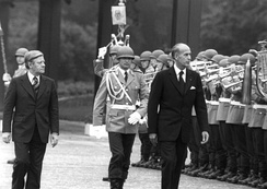 Helmut Schmidt, left, with French President Valéry Giscard d'Estaing (1977)