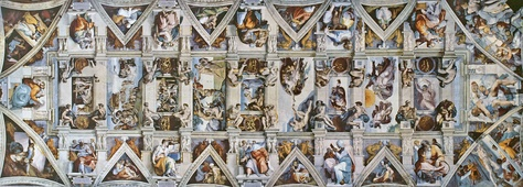 "The Sistine Chapel ceiling by Michelangelo, ""an artistic vision without precedent"""