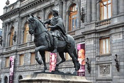 Manuel Tolsá's large equestrian statue of Charles IV of Spain, Mexico City.
