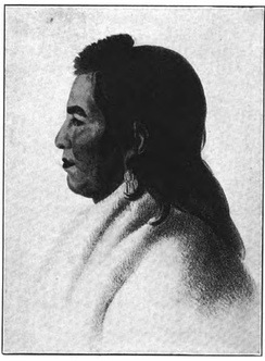 Painting of Mandan Chief Big White, who accompanied Lewis and Clark on their return from the expedition