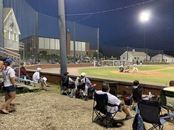 A night game at Doran Park, home of the Bourne Braves