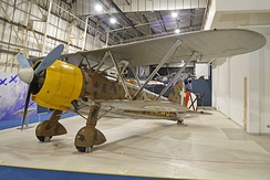Late 1930s Fiat CR.42 with Warren truss interplane struts which reduced the work needed in rigging a biplane