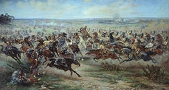 Charge of the Russian Imperial Guard cavalry against French cuirassiers at the Battle of Friedland, 14 June 1807