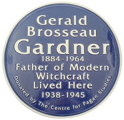 A plaque erected to mark the house at Highcliffe where Gardner lived during the Second World War.