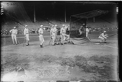 The Giants at the batting cage in 1923