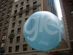 A promotional balloon for Glee in New York City.