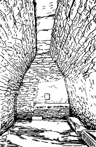 Interior of the sheep shelter-cum-byre of Group No 4.