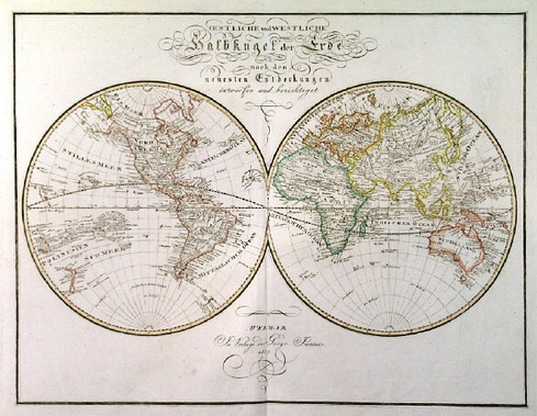 An 1817 Perspective of the world consistent with the view point of Modern Globalization. Notice the amount of detail.