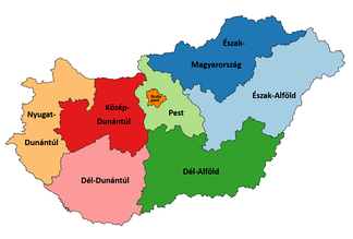 NUTS 2 regions of Hungary