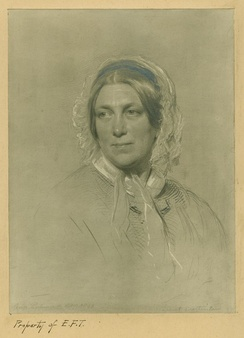 Martineau in her later years, painted by George Richmond
