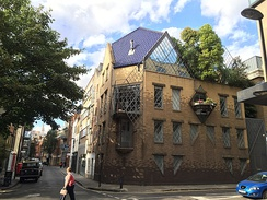 The Clerkenwell house commissioned by Janet Street-Porter. It was designed for her by Piers Gough in 1987. She sold it in 2001.[19]