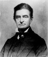John Brown (1800-1859), abolitionist who advocated armed insurrection to overthrow the institution of slavery.  He organized the Pottawatomie massacre (1856) and was later executed for leading an unsuccessful 1859 raid on Harpers Ferry, West Virginia.