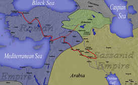 Julian's unsuccessful campaign in 363 resulted in the loss of the Roman territorial gains under the peace treaty of 299.
