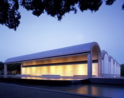 Kimbell Art Museum at dusk