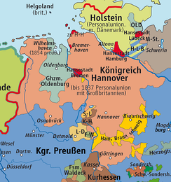 Kingdom of Hanover (1815–1866), Duchy of Brunswick, Grand Duchy of Oldenburg and the Principality of Schaumburg-Lippe in the 19th century