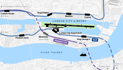 The Elizabeth line will pass close to the airport but no station is currently planned