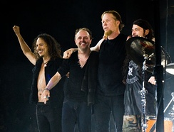 Metallica was one of the most influential bands in heavy metal, as they bridged the gap between commercial and critical success for the genre.[125] The band became the best-selling rock act of the 1990s.[126]