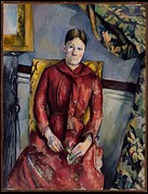 Paul Cézanne, Madame Cézanne (Hortense Fiquet, 1850–1922) in a Red Dress, 1888–90