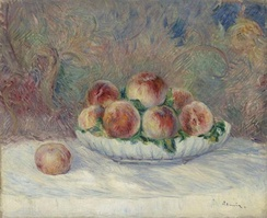 Pierre-Auguste Renoir, A Still Life Painting of Peaches