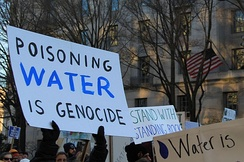 Demonstration in support of Standing Rock to stop DAPL occurred all over the world throughout 2016 and in March 2017 in Washington, DC
