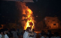 The burning of dolls is a local tradition in the city of La Plata.