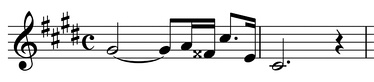 The leitmotif associated with Salome herself in Richard Strauss's opera Salome.