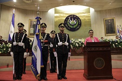 Salvadoran cadets in the Legislative Assembly of El Salvador