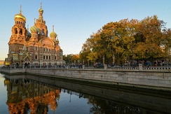 Church of the Savior on Blood, seen from Griboyedov Canal