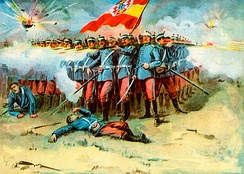 The last stand of the Spanish Garrison in Cuba by Murat Halstead, 1898