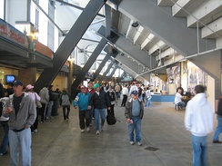 The upper deck concourse
