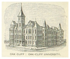 The Female University Projekt of T. L. Marsalis, president of the Dallas Land & Loan Company (c. 1890)