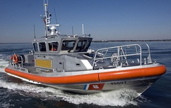 A U.S. Coast Guard 45-foot (14 m) Response Boat Medium (RB-M)