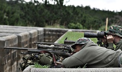 A Special Reaction Team with an M24 Sniper Weapon System in 2004.