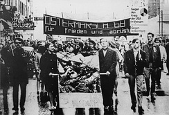 Vietnam War protesters in Vienna in 1968