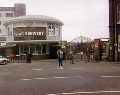 The Stag Brewery, Mortlake in 1989