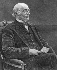 William Lloyd Garrison, engraving from 1879 newspaper
