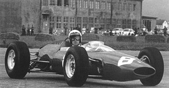Lorenzo Bandini won the race driving a Ferrari 156 F1