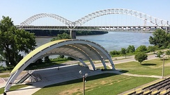 New Albany Amphitheatre with the Sherman Minton Bridge in the background