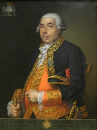 Portrait of Antonio Barceló. 1848 copy from an 18th-century original that was at Palma de Mallorca's Town Hall.
