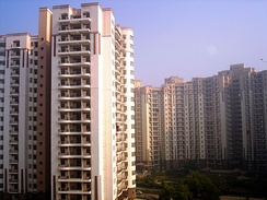 An apartment complex in Gurgaon, Haryana, India