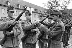 Austrian troops training with M1 Garands during the 1950s