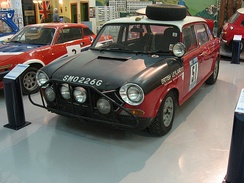 "The ""BMC 1800"" which placed second in the 1968 London-Sydney Marathon"