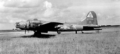 Lockheed/Vega B-17G-10-VE Flying Fortress Serial 42-39958 of the 92d Bomb Group. This aircraft suffered severe damage during a mission to Hamburg Germany on 4 November 1944 attacking the Harburg oil complex. It was written off after it landed safely.