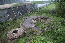 Ruins of the two Bachem Ba 349 Natter launch pads in the Hasenholz.