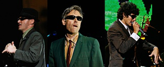 Left to right: Adam Horovitz, Adam Yauch, Michael Diamond