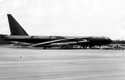B-52D of the division's 484th Bombardment Wing deployed at Andersen AFB[note 6]