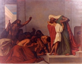 Joseph Recognized by His Brothers (Léon Pierre Urban Bourgeois, 1863)