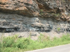 Bituminous coal seam in West Virginia