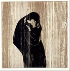 Kiss IV, 1902, woodcut print on wood, 47 cm × 47 cm (18 1⁄2 in × 18 1⁄2 in), Munch Museum, Oslo